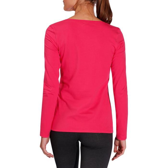 Langarmshirt 100 Gym Damen pink