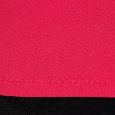 100 Women's Long Sleeved Gym & Pilates T-Shirt - Bright Pink