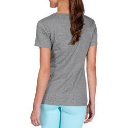 500 Women's Regular-Fit Gentle Gym & Pilates T-Shirt - Heathered Grey