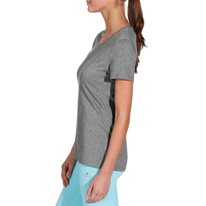 500 Women's Regular-Fit Gym T-Shirt - Black - 215076