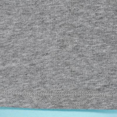 Camiseta 500 regular Pilates y Gimnasia suave mujer gris jaspeado