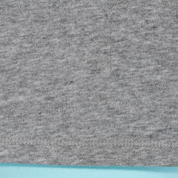 T-shirt 500 régulier Pilates Gym douce femme gris chiné