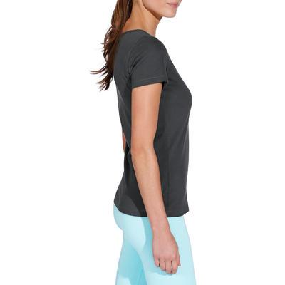 T-shirt coton Sportee fitness Essentiel femme gris foncé