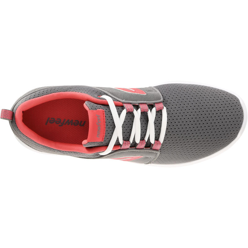 Soft 140 Mesh Women's Fitness Walking Shoes - Grey/Pink