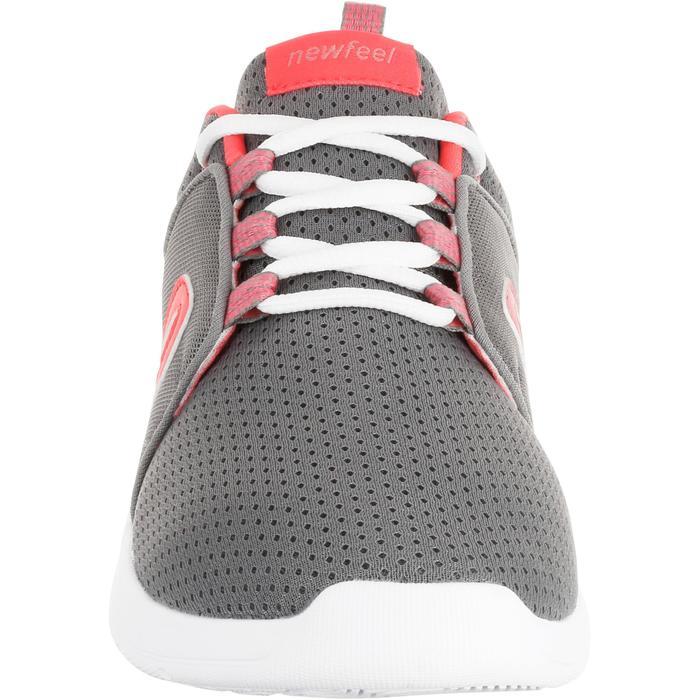 Zapatillas de marcha deportiva mujer Soft 140 mesh gris / rosa
