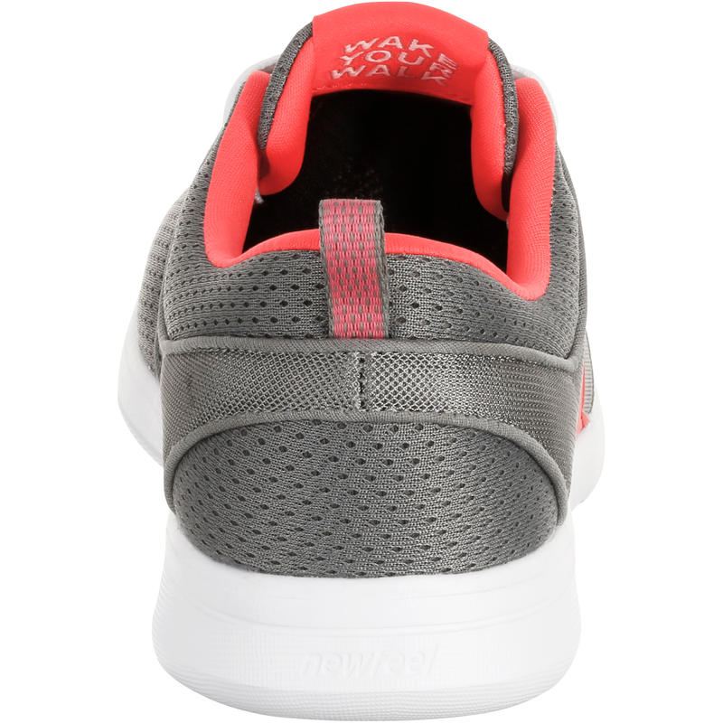 Walking shoes for women soft 140 mesh - Grey/Pink