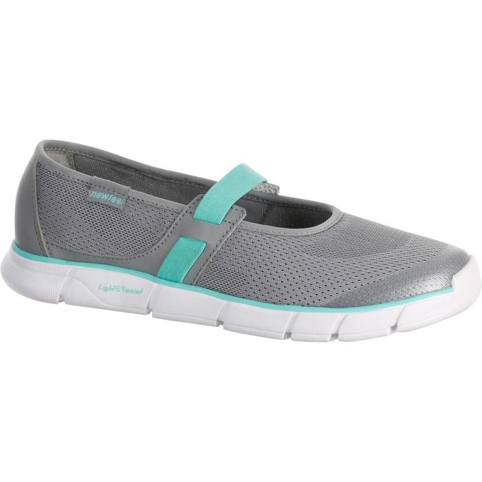 Soft 520 Women's Fintess Walking Ballerina Pumps - Grey/Blue