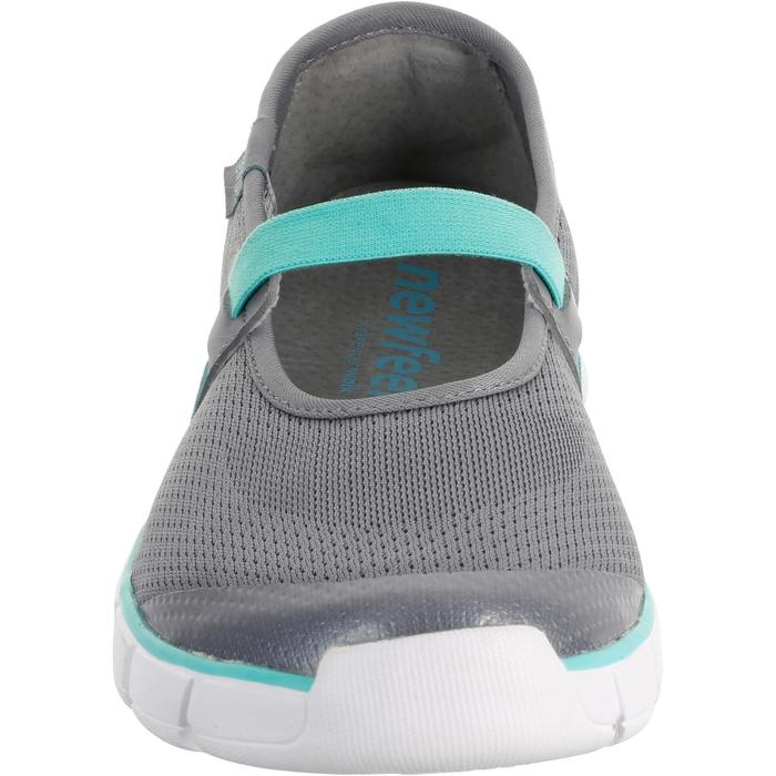 Soft 520 Women's Fitness Walking Ballerina Pumps - Grey/Blue