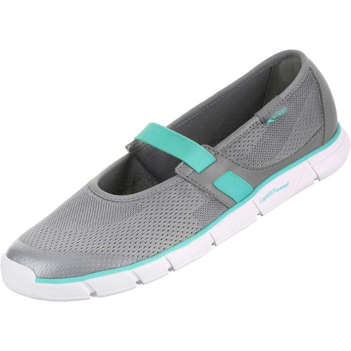 Bailarinas de marcha deportiva para mujer Soft 520 gris / azul