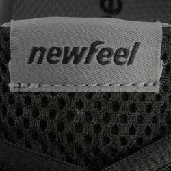 Herensneakers voor sportief wandelen Soft 140 mesh zwart / wit