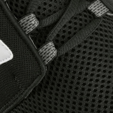 Espadrilles marche sportive homme Soft 140mailles noir/blanc
