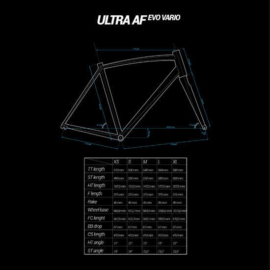 VELO ROUTE ULTRA 700 AF GRIS VERT