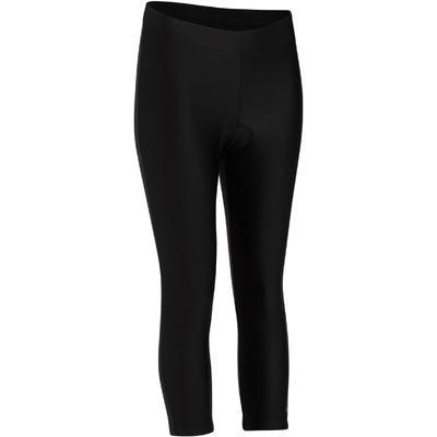 Pantalón elástico 3/4 mujer 300 negro