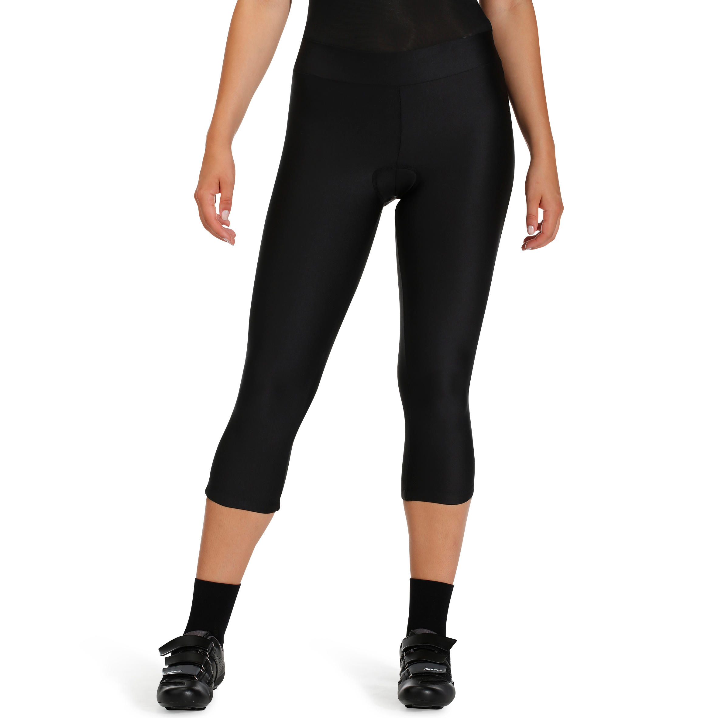 ST100 Women's Mountain Biking Crop Bottoms - Black