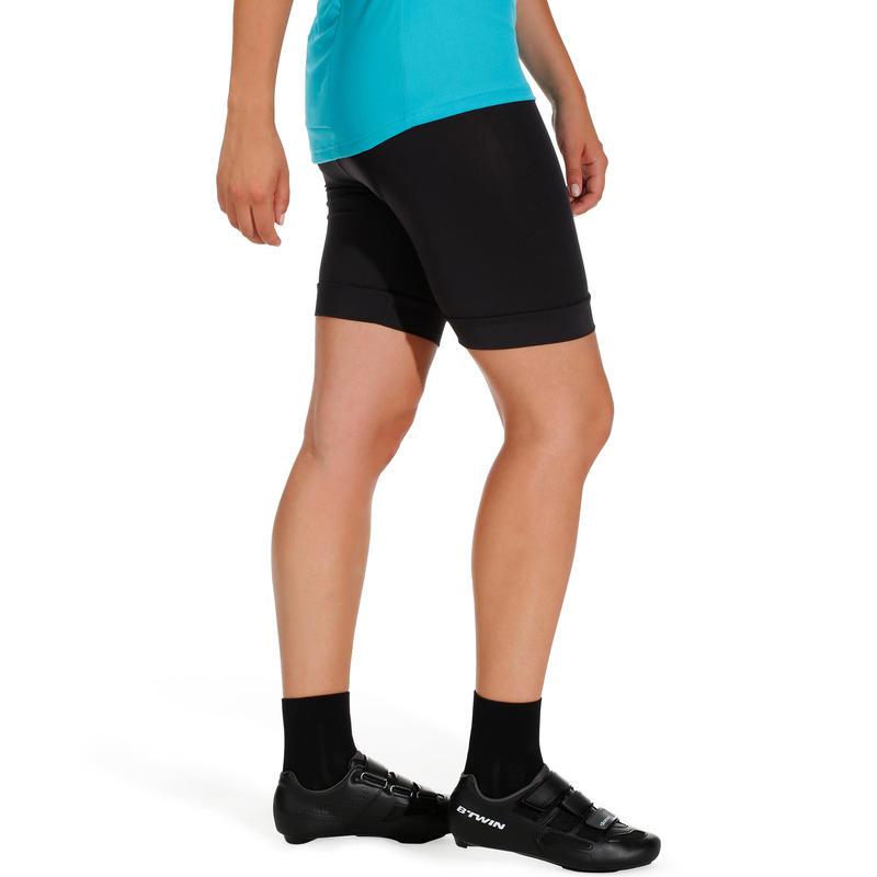 100 Women's Bibless Cycling Shorts - Black
