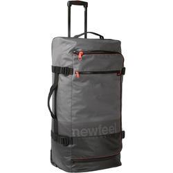 Koffer met wieltjes TR 120 90 liter grijs/koraalrood