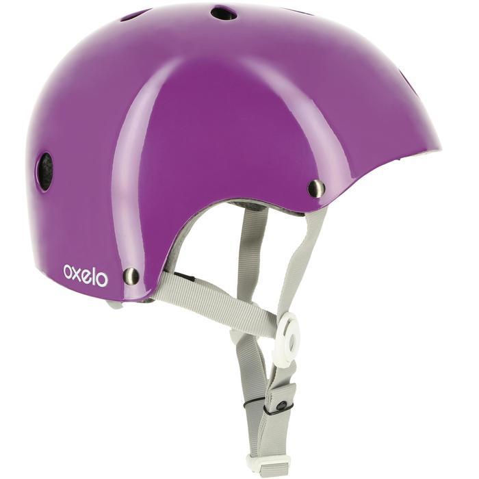 直排輪、滑板、滑板車、自行車安全帽Play 5 - 紫色
