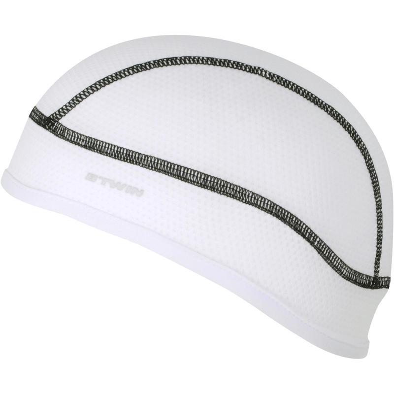 Sous-casque vélo 500 aquafreeze blanc