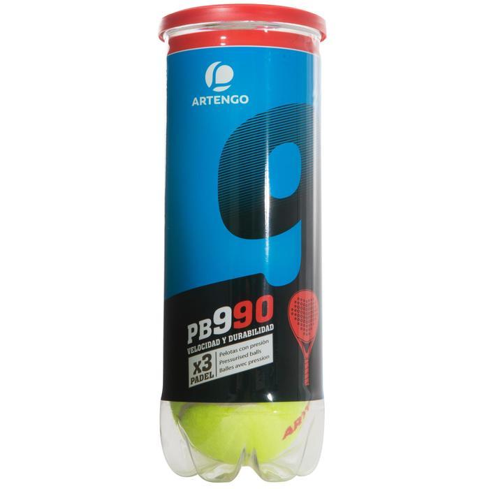 Balles de padel PB990 Jaune - 216378