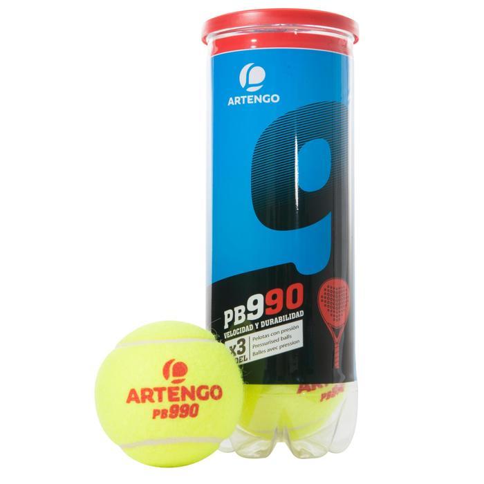 Balles de padel PB990 Jaune - 216381