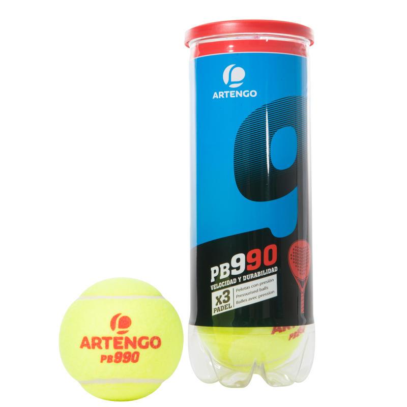 Pelotas de pádel PB990 Amarillas