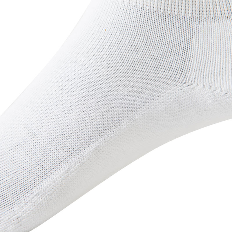 RS100 Junior Mid-Length Sports Socks 3-Pack - White