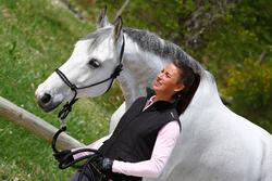 Set ethologisch halster + halstertouw Whisperer pony en paard zwart - 21693