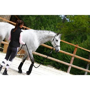 Pack licol + longe équitation éthologique cheval et poney WHISPERER noir