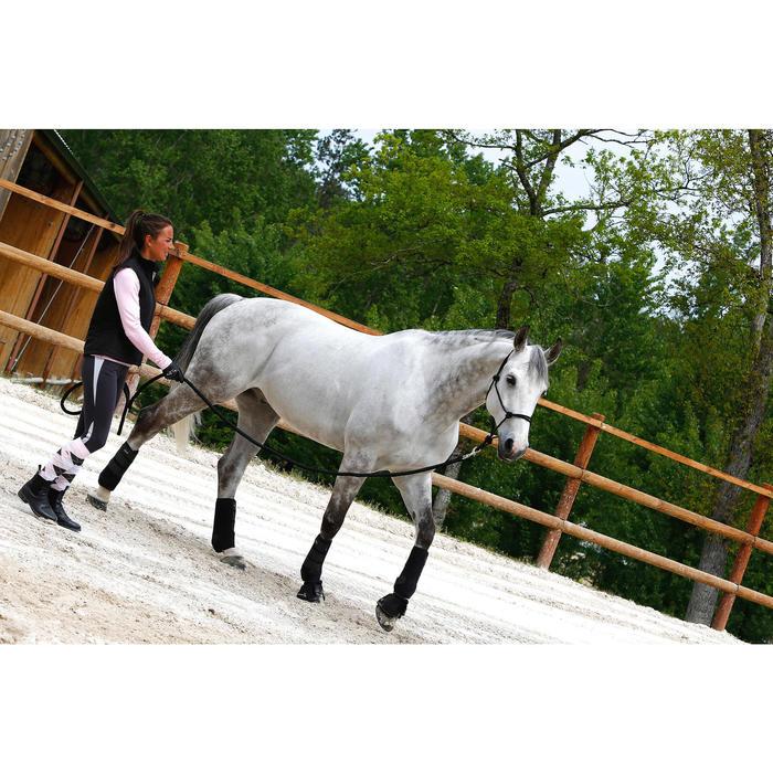 Set ethologische halster + halstertouw voor pony en paard Whisperer zwart