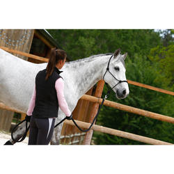 Set ethologisch halster + halstertouw Whisperer paard en pony zwart
