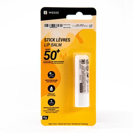 Moisturising lip balm with SPF 50+ sunscreen