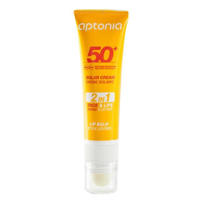 Duo 2 en 1 crema solar y lápiz de labios de protección solar IP50+