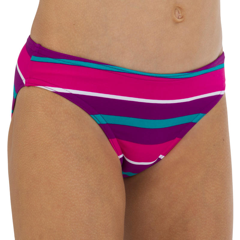 Maillot de bain fille 2 pièces triangle coulissant AG HUPA rose
