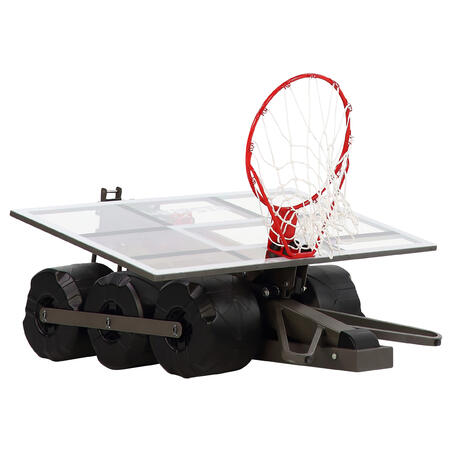 Kids'/Adult Basketball Hoop B900 2.4m to 3.05m. Sets up and stores in 2 minutes.