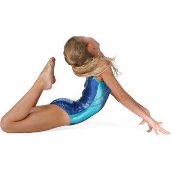 Maillot sin mangas gimnasia niña (GAF) Azul