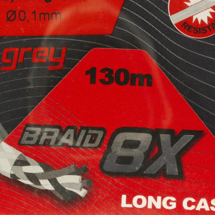 TRESSE DE PÊCHE BRAID 8X GREY 130 M