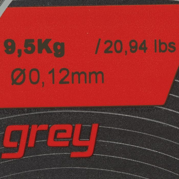 Angelschnur 8fach geflochten grau 130 m8/100