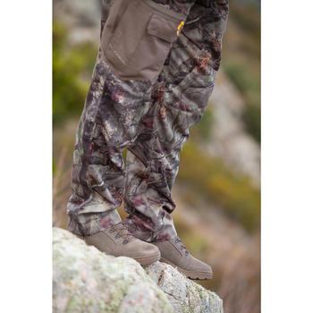 Pantalon Caza Solognac Actikam 300 Resistente Multi Bolsillos Camuflaje Marron