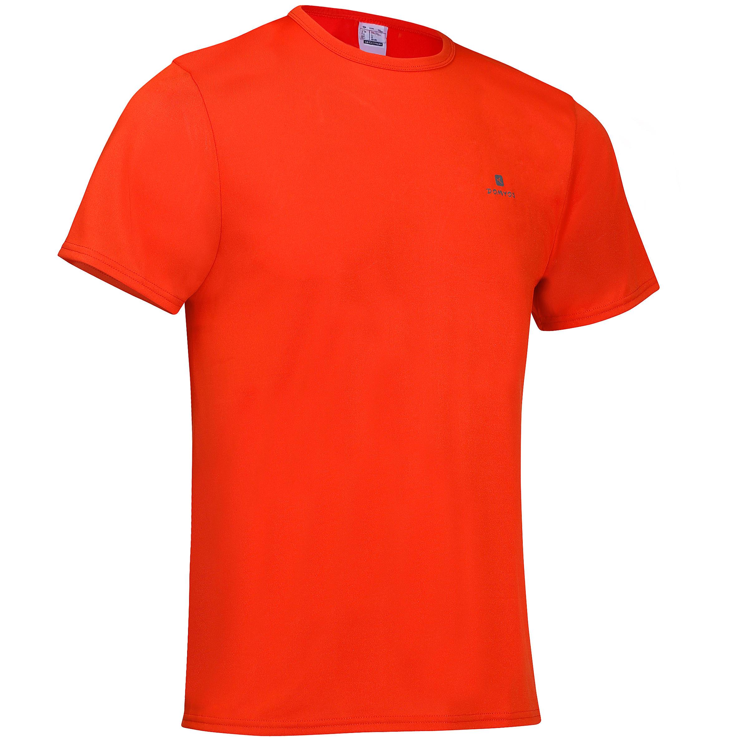 Playera de fitness Cardio para hombre rojo FTS100