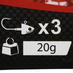 Jigkop voor kunstaashengelen Biga Light Jig Head x 3 - 30 g - 218667