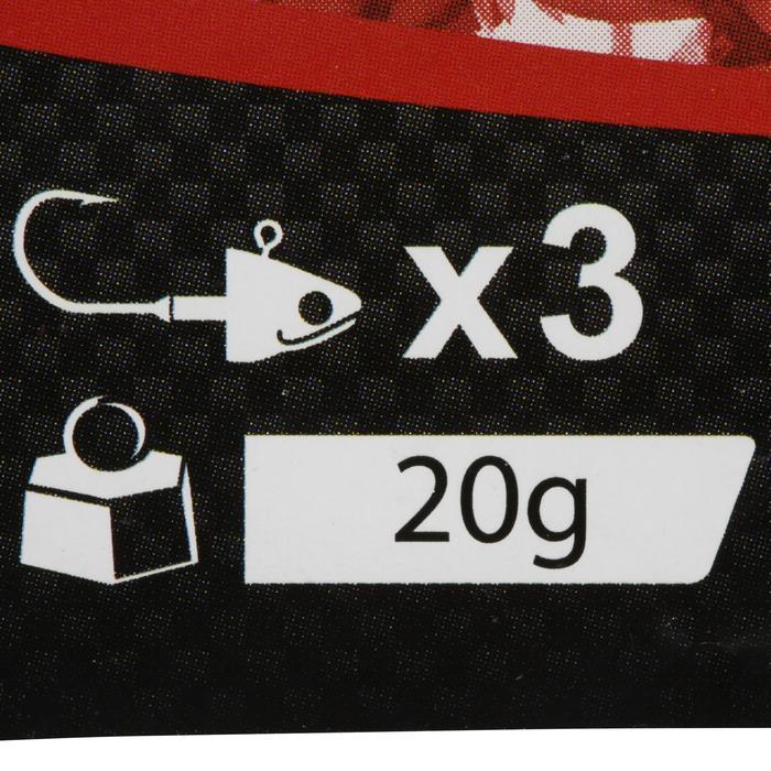 Cabeza plomada pesca con señuelos BIGA LIGHT JIG HEAD x3 20 g