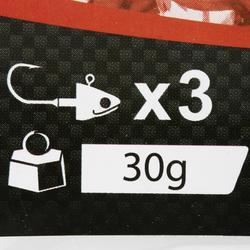 Cabeza plomada pesca con señuelos BIGA LIGHT JIG HEAD x3 30 g
