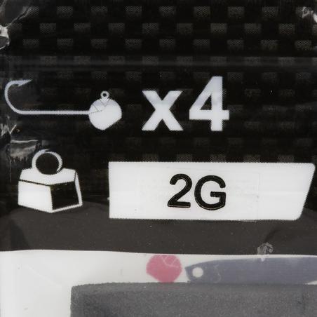 Набір джиг-голівок для риболовлі на блешню, 2г, 4 шт.