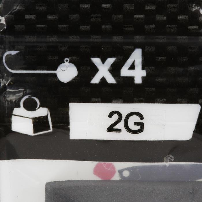 Loodkop voor kunstaashengelen Round Jig Head x4 2 g