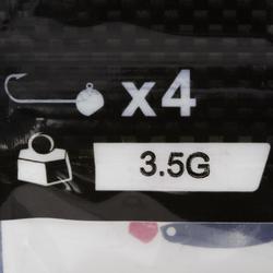 Cabeza plomada pesca con señuelos ROUND JIG HEAD x4 3,5 g