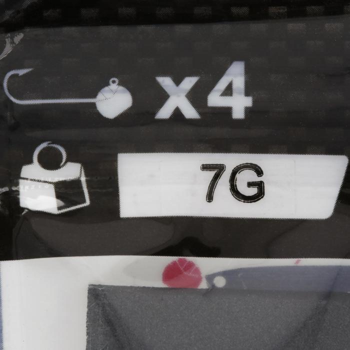 Ronde loodkop voor kunstaashengelen x4 - 7 g