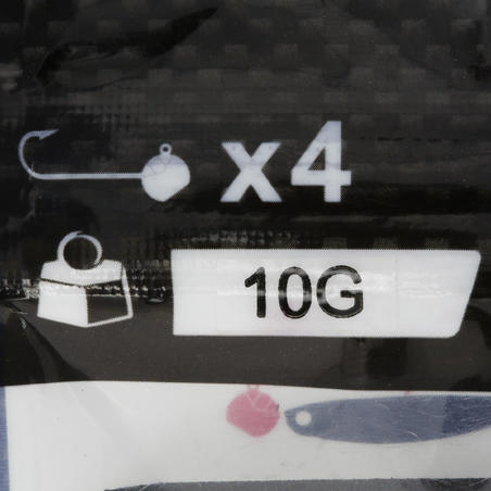 Tête plombée pêche aux leurres x4 10 g