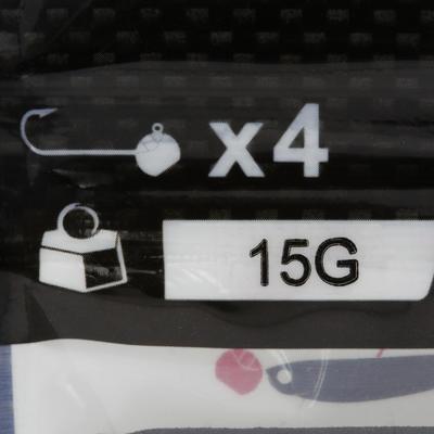Кругла джиг-головка з обтяженням 15 г, 4 шт для ловні на приманку