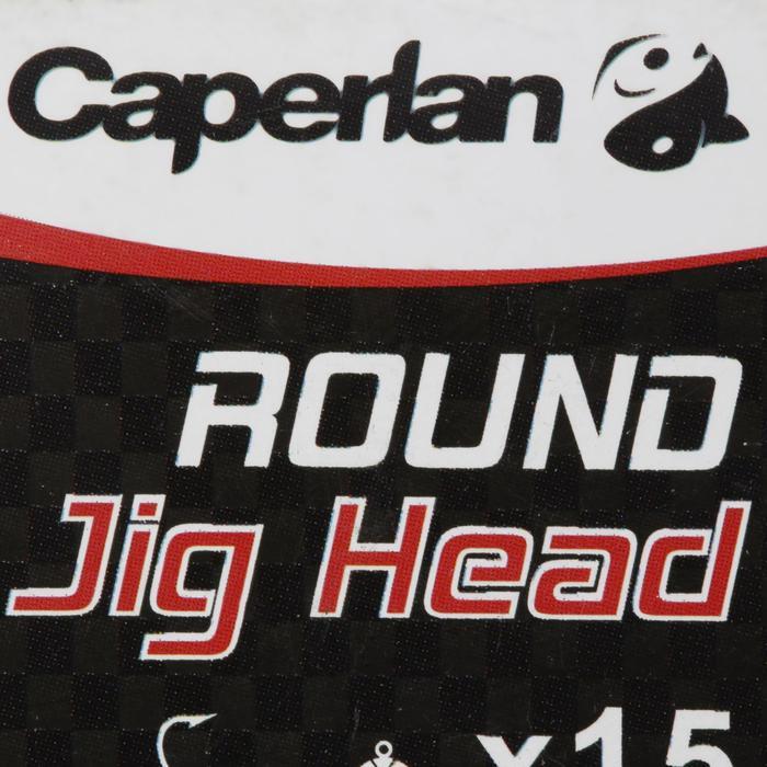 Loodkop voor kunstaashengelen Round Jig Head x 15 7 g