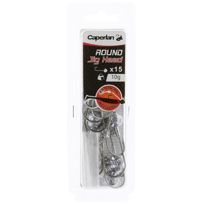 Jigkop voor kunstaashengelen Round Jig Head x 15 - 10 g